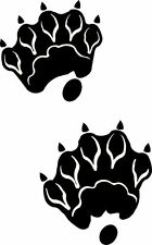 otter track / footprint sticker / paw print decal