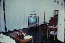 Org Photo Slide 1960's Vietnam war military Base soldier house TV living room