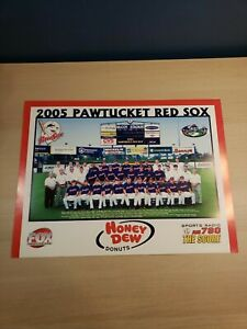 "2005 Pawtucket Red Sox Team Poster Picture Boston 22.5""x17 Pedroia Papelbon"