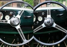 LEATHER STEERING WHEEL COVER / GLOVE for  MORRIS 10,  12