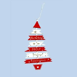 Christmas-Tree Wooden-Pendant Hanging Xmas Decorations Home Party-Ornaments