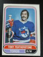 Tony Featherstone-1975/76 Opee-chee Hockey-WHA-nrmint/7-no.122-Toros