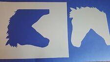 Schablone 278 Pferde Kopf Wandtattoo Stencil Leinwand Textilgestaltung Airbrush