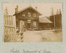Norvège, chalet restaurant à Leren  vintage albumen print,Photos provenant d&#