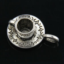 10pcs Tibetan Silver Cup Pendants Charms For Jewelry Making