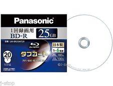20 Panasonic Bluray Disc BD-R 25GB 6X Speed Single Layer Printable Bluray Discs