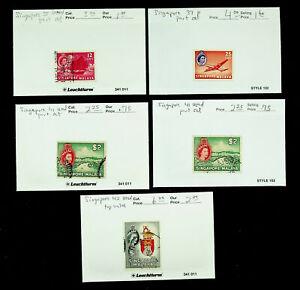 SINGAPORE MALAYA QE II 12c-$5 5v MINT + USED STAMPS CV $18