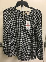 Michael Kors Pearl Heather Blouse NWT