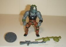 Vintage 1988 TMNT Teenage Mutant Ninja Turtles Rocksteady figure w/ Accessories