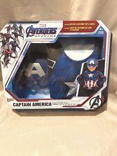 Avengers Endgame Captain America Deluxe Costume Top Set W/mask Sz 4-6 Marvel