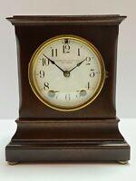 Antique Working SETH THOMAS 'Hennigan Bates Co.' Mahogany Mantel Shelf Clock