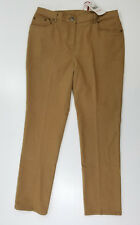 Rubbie Red Womens Pants 5 Pocket Flat Front Stretch Side Elastic Toffee Size 10