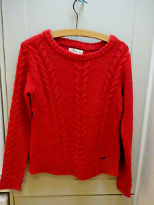 Girls Hollister red knitted jumper size XS