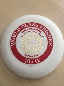 c.1980 Vintage WHAM-O® FRISBEE® World Class 165g MODEL flying disc, used.