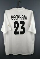 4.1/5 Beckham Real Madrid jersey Large 2002 2003 home shirt football Adidas ig93
