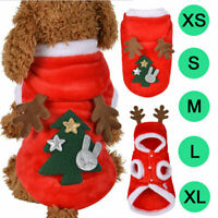 Pets Dog Clothes Red Christmas Jumper Puppy Reindeer Coat Costume For Small Dogs