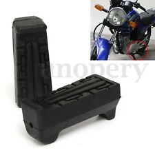 Pair Motorcycle Black Front Rubber Footrest Replacement For Yamaha YBR 125 All