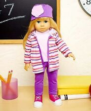 Blonde Girl Doll 18 Inch Tall With Clothes Kids Toy Outfits Life Like Eyes Close