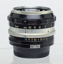Nikon 5.8cm 58mm Lens f1.4 NON AI