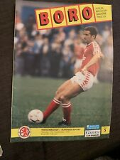 1991 Middlesbrough V Tranmere Rovers  Football Programme