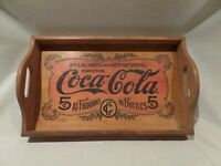 COCA-COLA RARE-VINTAGE 1993 WOODEN SERVING TRAY