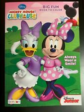 "DISNEY MICKEY MOUSE CLUBHOUSE ""ALWAYS WEAR A SMILE!"" NEW BIG FUN COLORING BOOK"