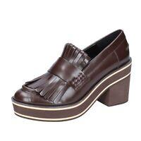 scarpe donna PALOMA BARCELO mocassini marrone pelle BS263