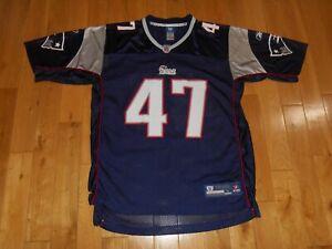 2008 Reebok On Field John Lynch NEW ENGLAND PATRIOTS #47 Mens NFL Team JERSEY Lg
