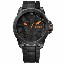 Hugo Boss Orange Watch - Men's New York Black Watch - Brand New in Box