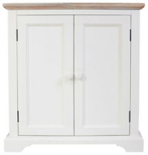 FLORENCE White cupboard unit, kitchen corner sideboard with shelf,FULLY ASSMBLED