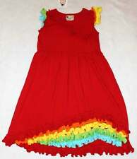NWT Boutique Loves Me Not Clothing Red Knit Ruffle Dress 8 Yrs.