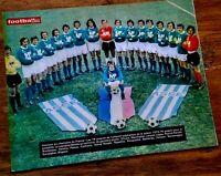 FOOTBALL POSTER ASSE CHAMPION DE FRANCE 1974 ST-ETIENNE BERETA SYNAEGHEL PIAZZA