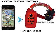 Impermeable Control Remoto ADIESTRAMIENTO DE PERROS COLLAR Rastreador GPS (2 en 1)