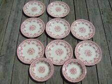 10 pc Lot Swinnertons Staffordshire England KENT Dinner and Soup Plates Red