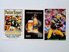 Never Folded 1996 Green Bay Packers Football Schedule Robert Brooks, Brett Favre