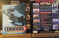 PC CD-ROM Game:  JANE'S FIGHTERS ANTHOLOGY Combat Simulator Flight + Longbow ATF