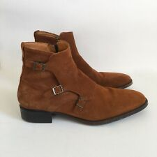 ZARA MAN Brown Suede Leather Side Buckle Boots Sz 42/US 9