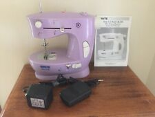 "WHITE portable "" SEW E-Z SEWING MACHINE "" Lavender - AC / BATTERY"