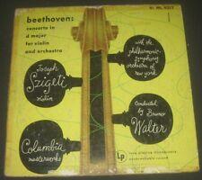 Beethoven Violin Concerto Joseph Szigeti / Walter Columbia  ML 4012 lp ED1 1947