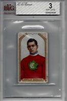1911-12 C55 #37 Art Bernier Montreal Canadiens BVG 3 Rare PSA NHL Habs Tobacco !