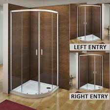 Aica Quadrant Shower Enclosure & Tray Corner Cubicle Glass Door 800x800 900x900