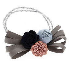 Pâle Bleu Marine Rose Pivoine Femme Fille Élastique Cheveux Bandeau Accessoires