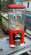 25 CENT  GUMBALL CANDY PEANUT OAK  MACHINE  1960'S  JERRY  LEWIS RARE DECALS