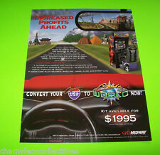 CRUIS'N USA to CRUIS'N WORLD By MIDWAY 1997 ORIGINAL NOS VIDEO ARCADE GAME FLYER