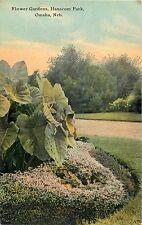 A Closeup View of the Flower Gardens in Hanscom Park Omaha NE