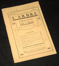 l'arbre n°95 bulletin des amis des arbres 1924 rendement plantations résineux