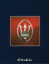 Maserati Ghibli 2.8 1992-95 UK Market Multilingual Foldout Sales Brochure