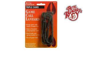 PETE RICKARD - #224C TRIPLE HUNTING CALL LANYARD BRAIDED CAMO WATERFOWL LANYARD