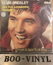 """ELVIS PRESLEY UK 1980 7"""" Single Are You Lonesome Tonight RCA196 PICTURE SLEEVE"""