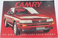 ".VINTAGE CAMRY ""OH WHAT A FEELING"" LARGE SALES BOOKLET V6, CS, ULTIMA, EXECUTIVE"